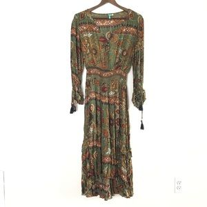 Anthropologie Farm boho peasant dress size M